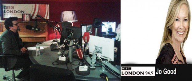 Daniel with Jo Good at Radio London 94.9