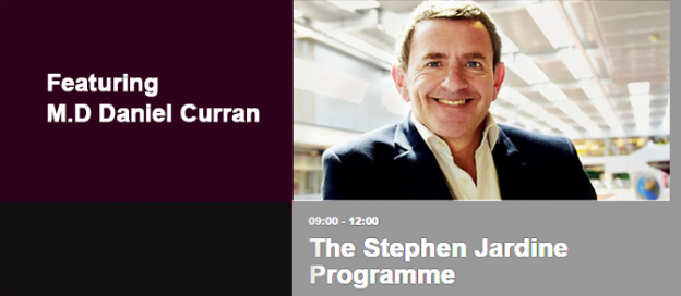 M.D. Daniel Curran on BBC Radio Scotland with Stephen Jardine