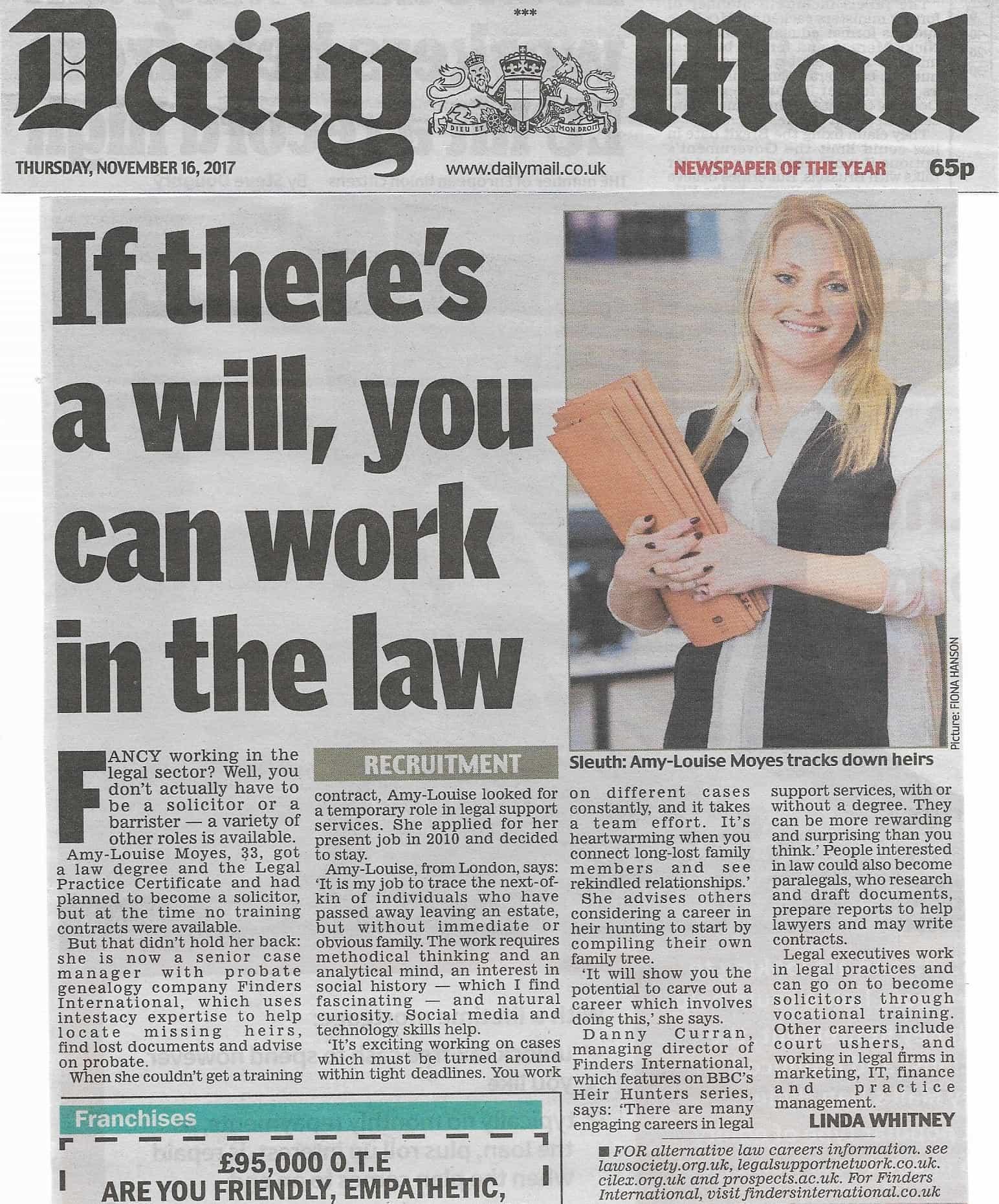 Daily Mail 16 Nov 2017